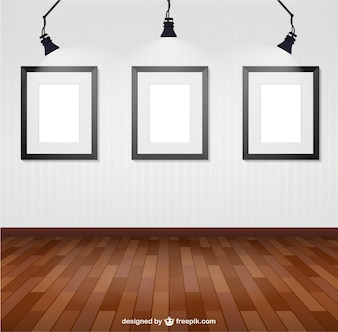 Illuminated wall frames