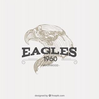 Illustrated eagle badge
