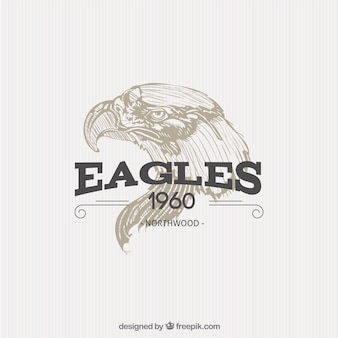 Illustrated eagle badge
