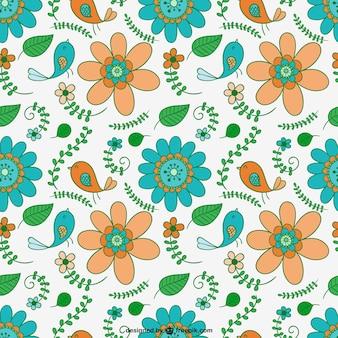 Illustrated flowers pattern