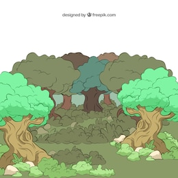 Illustrated forest