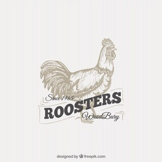 Illustrated rooster badge