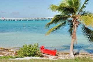 In the middle of the Keys, Florida, Janu, west