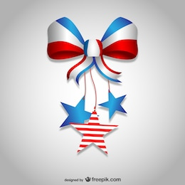 Independence day bow ribbon design