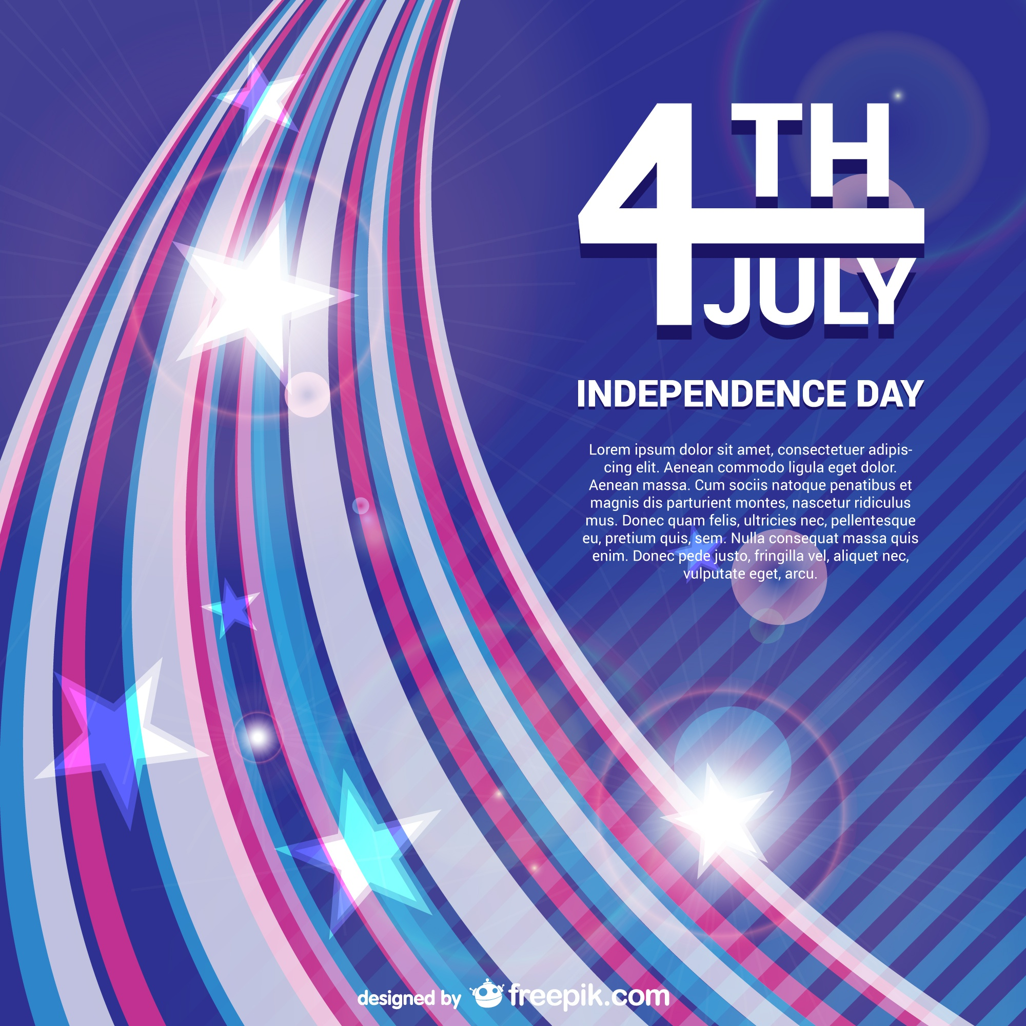 Independence day vector free background