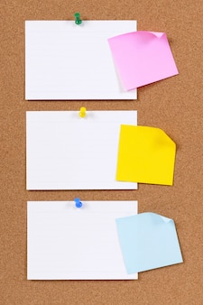 Index cards and sticky notes