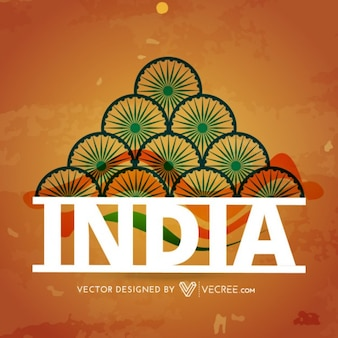 India colors design background