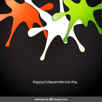 India Independence day with colorful splashes