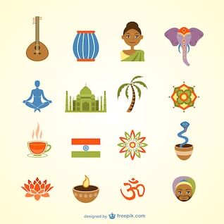 India vector pack