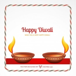 Indian festival diwali invitation card