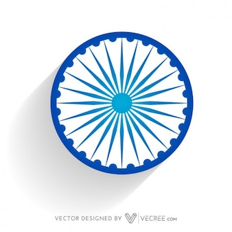 Indian flag wheel in blue color