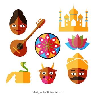 Indian Icons Set