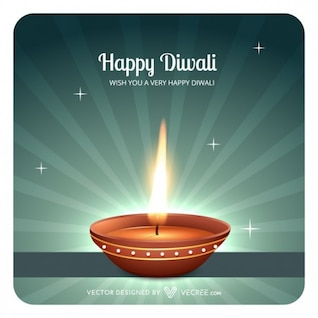 Indian illustration with diwali flames