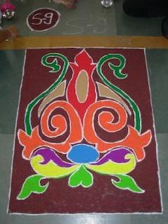 Indian rangoli diwali, traditional