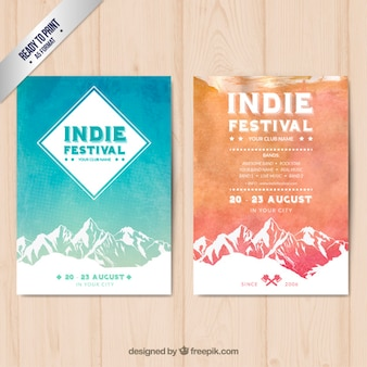 Indie festival posters