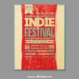 Indie festival vector template