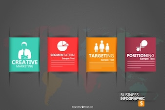 Infographic business graphic vector