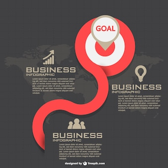 Infographic business strategy design
