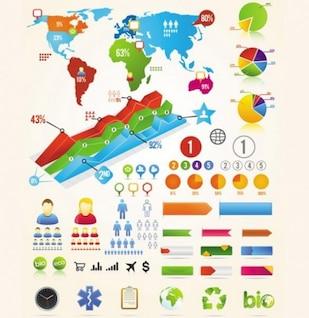 Infographic design elements sets