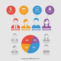 Infographic design with young people
