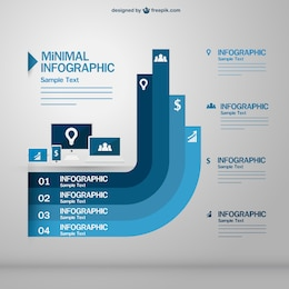 Infographic electronic devices vector free