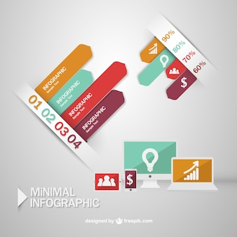 Infographic options minimal design