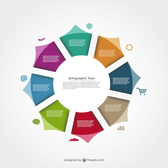 Infographic round template