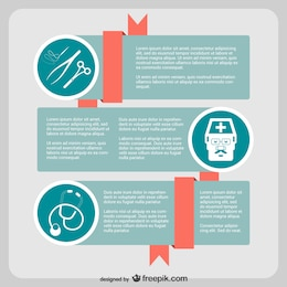 Infographic surgeon vector
