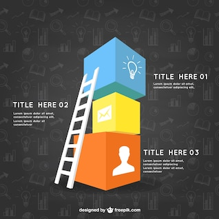 Infographic template with cubes