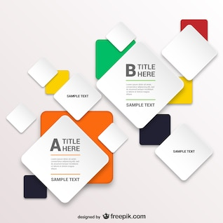 Infographic template with squares