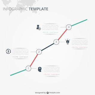 Infographic template with text