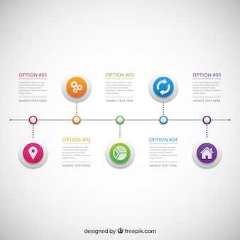 Infographic with colored circles
