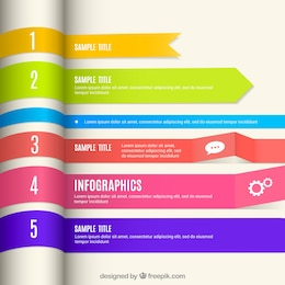 Infographic with colorful banners