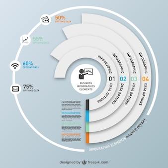 Infographics number options design