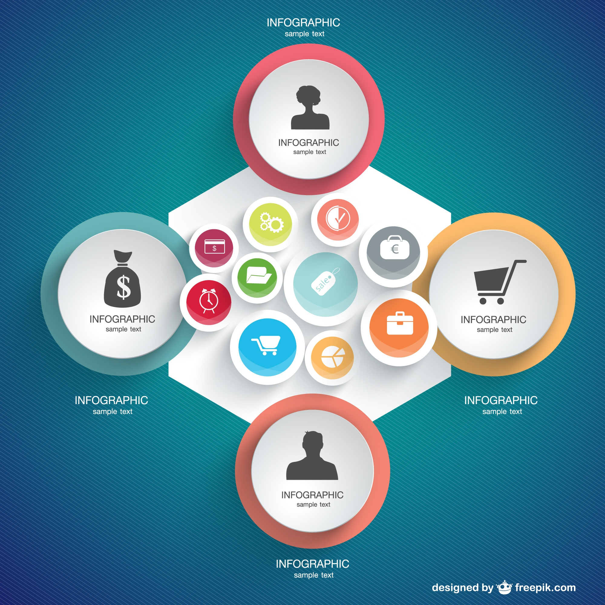 Infographics shopping concept