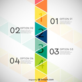 Infography with triangles
