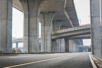 Infrastructure under a bridge