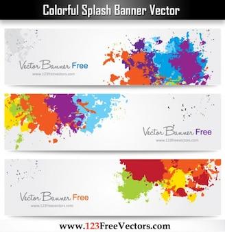 Ink Splash Colourful Banner