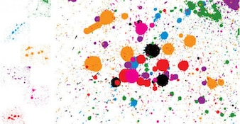 Ink Spray Splatter Vector