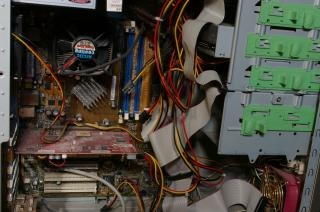 Inside a computer, graphic