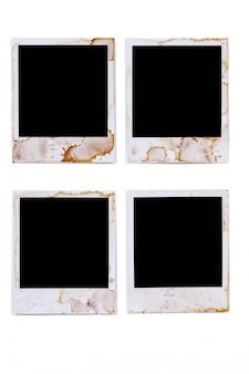 古いステンドポラロイド写真のプリント
