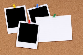 Instant photo prints with index card