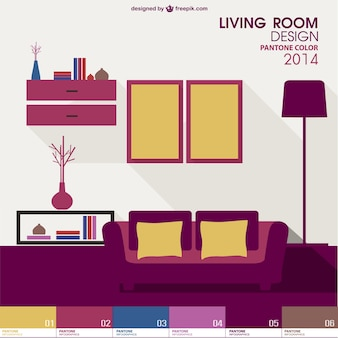 Interior design pantone vector