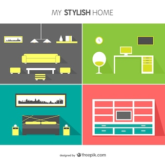 Interior design vector