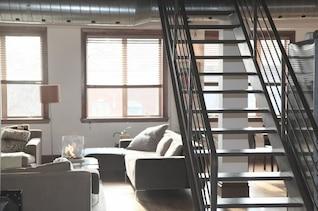 Interior metallic stairs
