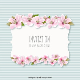 Invitation background with flowers