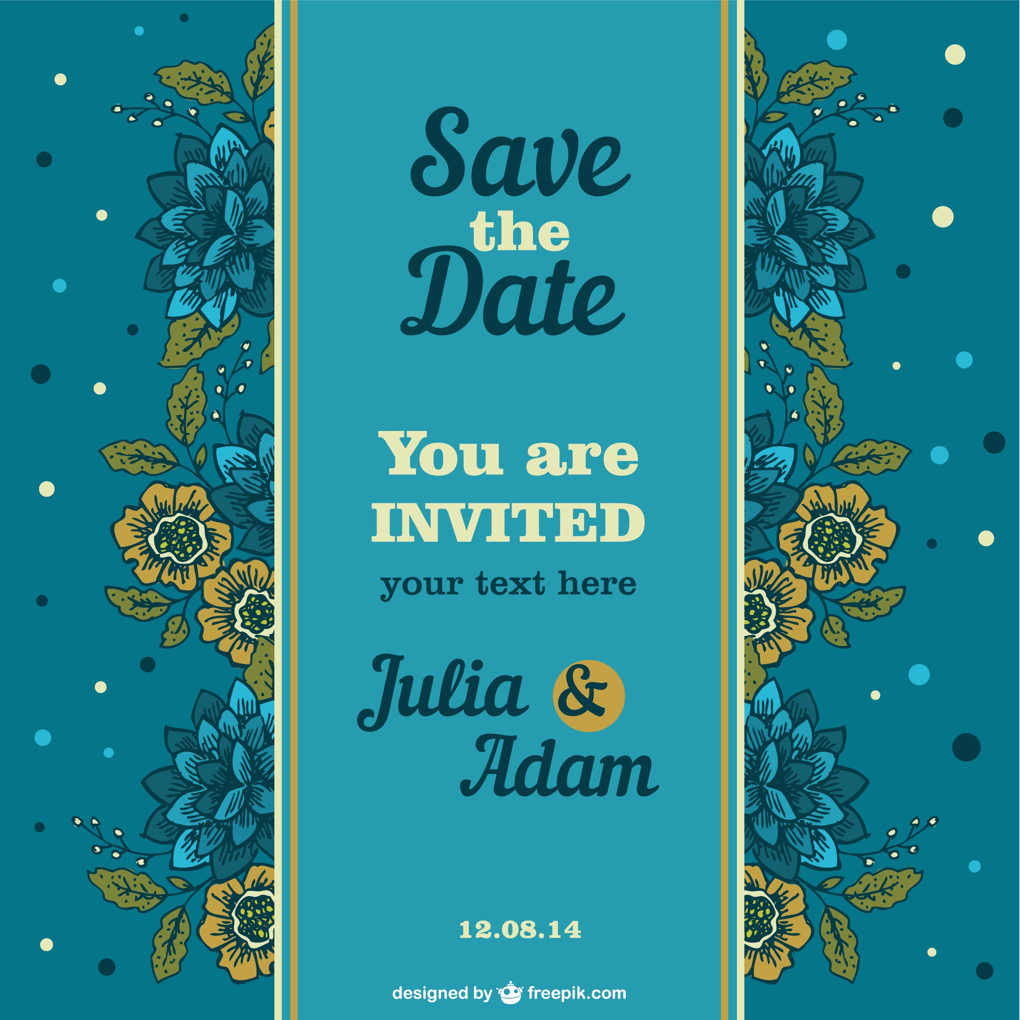 Invitation floral roses design
