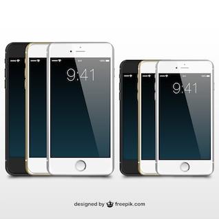 iPhones illustration vector