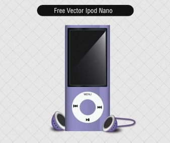 ipod nano violet with headphones