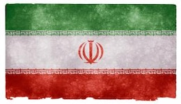 iran grunge flag  textured